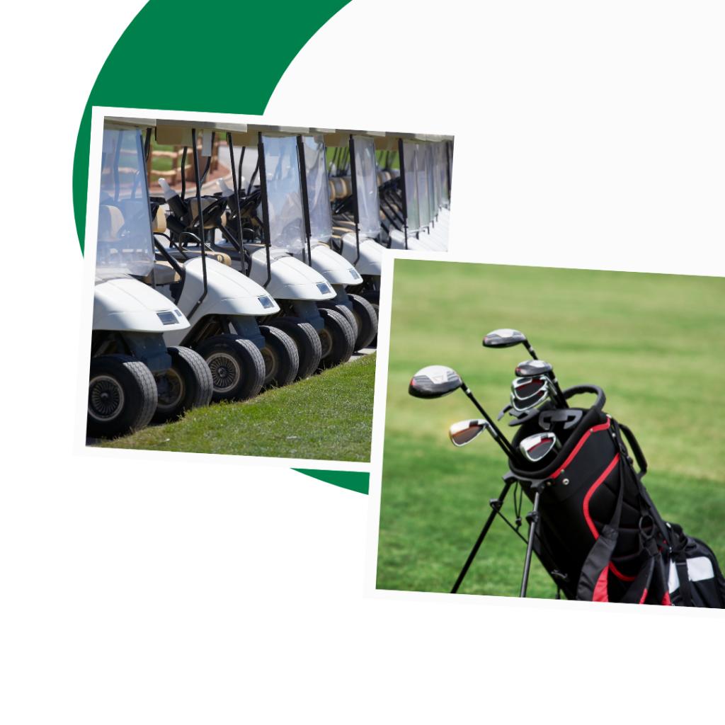 golf express 9 golf bags and carts